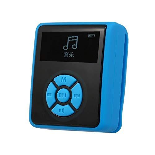LNNUKc IPX7 Impermeable MP3 4GB Reproductor de música con los Auriculares de Radio FM for la natación Correr Buceo Soporte podómetro Sin Pérdida de Sonido Portátiles Jugadores (Color : Blue)