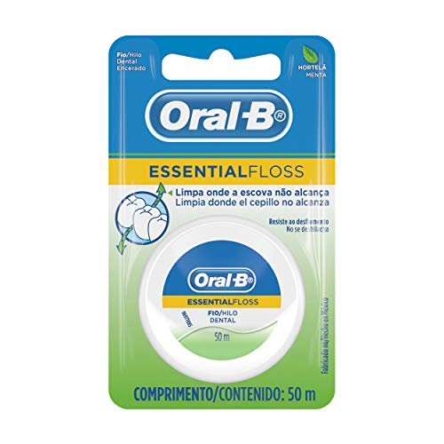 Fio Dental Oral-B Essential Floss Hortelã 50M, Oral-B
