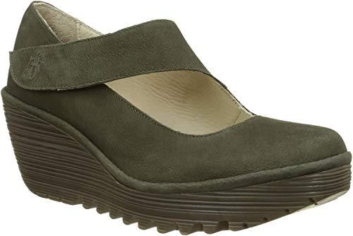 Fly London Yasi682fly, Zapatos de tacón con Punta Cerrada Mujer, Verde (Seaweed), 42 EU