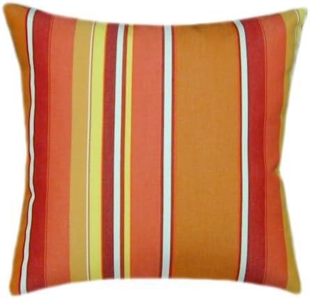 Sunbrella Dolce Popular Mango Indoor Striped Pillow 18x18 Ranking TOP9 Outdoor