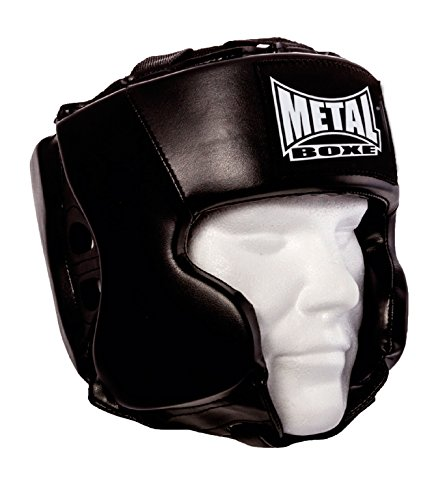 Metal Boxe mb117Casco unisex adulti, Nero