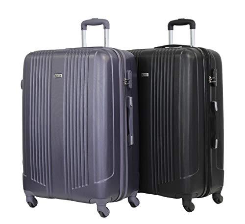 Juego de 2 maletas grandes 75 cm – ALISTAIR Airo – ABS ultraligeros y resistentes – 4 ruedas...