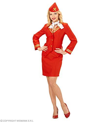 Widmann wdm59132–Kostüm Stewardess, Rot, Medium
