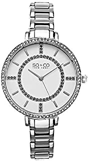 So & Co 5066.1 New York Soho Women's Quartz Watch With White Dial Analogue Display and Silver Stainless Steel Bracelet