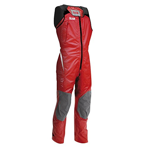 SLAM Force 4 Lange John mannen 25.000mm Waterdicht Grijs 3-LAYER NYLON RIPSTOP Mesh stretch stof op de schouders