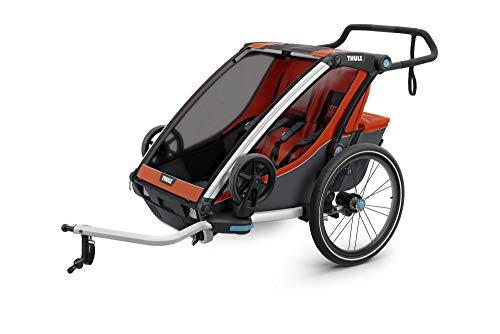 RennMaxe : Thule Chariot Cross Multisport Anhänger - orange - Sitzplätze: 1 - inkl Sicherheitswimpel - Kinderanhänger Fahrradanhänger