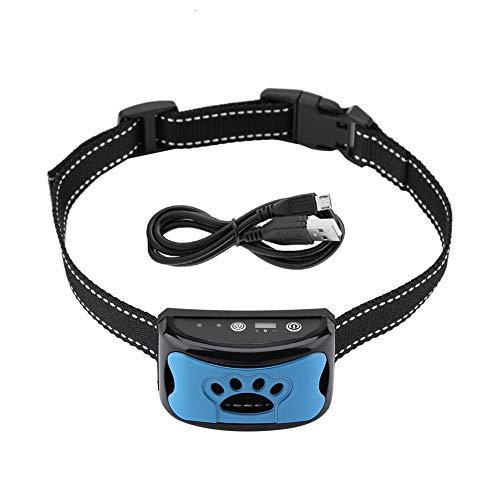 Coleira de controle de latido, coleira antilatido, dispositivo anti-latido, coleira de adestramento para cães, pequena, média, grande, ajustável, USB, recarregável, à prova d'água, inofensiva e humana