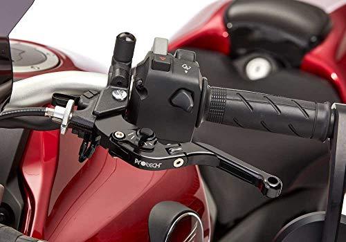 PROTECH Kupplungshebel schwarz kompatibel mit HONDA VFR800X Crossrunner 2015-2016 RC80 verstellbar I klappbar