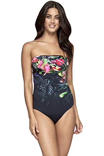 Jets Australia Arcadia Bandeau One Piece Swimsuit Size AUS 10 (US 6) Black