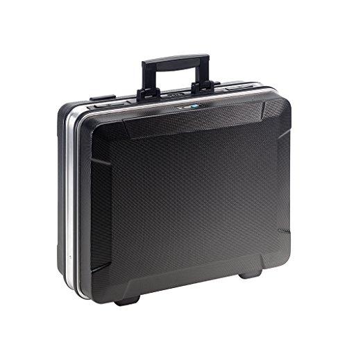 B&W Werkzeugkoffer BASE mit Werkzeugeinsteckfächern (Koffer aus ABS, Volumen 28,1l, 46,3 x 35,5 x 17,1 cm innen) 120.02/P, ohne Werkzeug