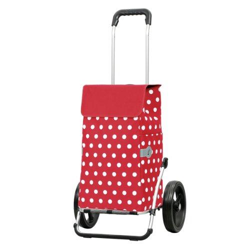 Andersen Shopper Royal mit 3-Speichenrad 25 cm und 43 Liter Tasche Elfi rot
