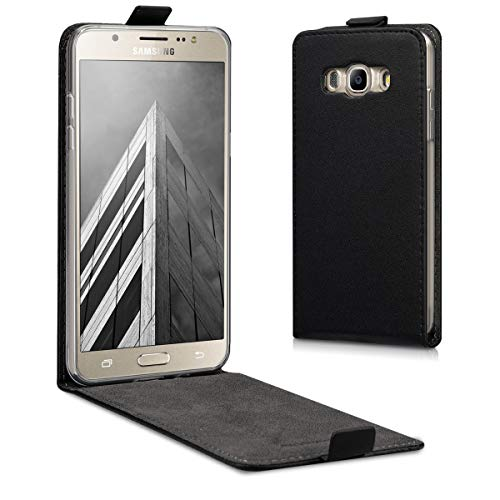 kwmobile Hülle kompatibel mit Samsung Galaxy J5 (2016) DUOS - Handy Case Handyhülle - Flip Schutzhülle in Schwarz