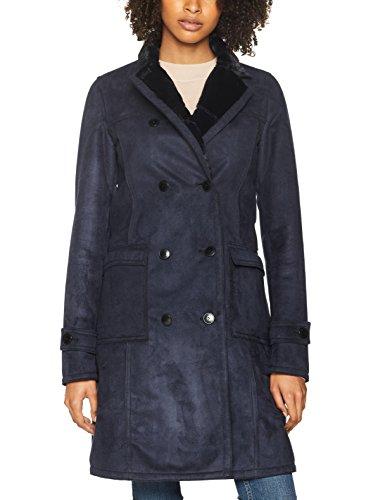 Armani Jeans Damen Coat Mantel, Blau (Blue Notte 0581), 34 (Herstellergröße: 40)