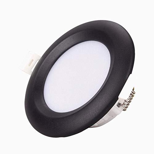 HSCW Lámparas de techo empotradas LED, downlights redondos de 5W Lámparas de montaje en techo, corte  75mm, 500lm Lámpara de techo Lámpara de techo Pequeñas descargas for la isla de la cocina del dor