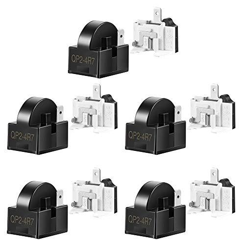 CUHAWUDBA Starter per Frigorifero QP2-4R7 4.7 Ohm 1 Pin Relè di Avviamento PTC per Frigorifero e Protezioni per Frigorifero 6750C-0005P