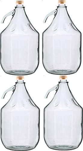 Unbekannt 4 STÜCK 3L Gärballon mit SCHRAUBVERSCHLUSS Flasche Glasballon Weinballon Glasflasche