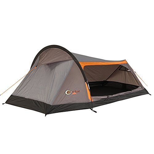 Portal Outdoor Unisex's Apus 2 Tent, Charcoal/Orange, One Size