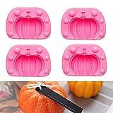 Stampo in silicone a forma di zucca autunnale, 2 pezzi, per Halloween, zucca in silicone 3D per Halloween, dolciumi, decorazione per torte