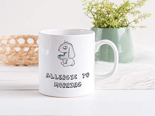 niet een ochtend persoon grappige koffie mok allergie voor ochtend Grumpy mok sarcastische mok grappige mok beste vriend cadeau nacht gift mok