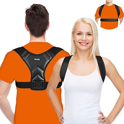 Geradehalter Haltungskorrektur, Upgraded 2 in 1Rückenkorrektur Damen Herren, atmungsaktiver, Schultergurt Rückentrainer, Haltungstrainer für Verbessert die Haltung Linderung, Schmerzen Rücken