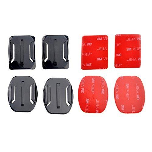 Set Kit di accessori casco curvo superficie mounts con cuscinetti adesivi 3M per GoPro Hero 33+ 4Sessione