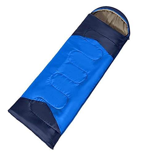 GUIPING Sac de Couchage Gonflable en Plein air, Chaud et respi Sac de Couchage Gonflable Chaud et Respirant Idéal Activités de Plein air Camping Randonnée Sac à Dos (Couleur : Blue)