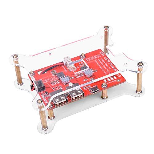kuman Fuente de alimentación de Batería de Litio con Placa de expansión con Interruptor + Cable Micro USB + 2 Capas de Acrílico de la Junta para Raspberry Pi 3 Modelo B+ KY68C