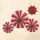 Ocamo Halloween deko,Party deko,3STK Halloween hängende Papierfächer Ghost Decoration Bars Festval...