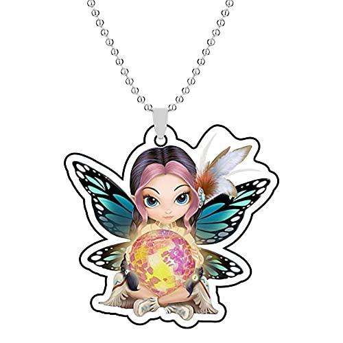 Collar colgante de la serie de hadas de la flor de la mariposa de las alas de la resina caliente regalos para las novias y la familia