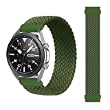 Correa Pulsera reemplazo de 22mm trenzado Solo lazo correa para Samsung Galaxy 46mm/Gear pulsera reloj Huawei GT/2/2e/Pro Huami amazfit pace/stratos2/2s banda elástica varios colores (Verde)