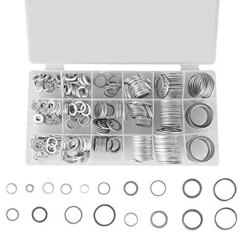 sourcing map 20 St/ücke 8mm Flach Unterlegscheiben Dichtung Kupferringe Dichtringe
