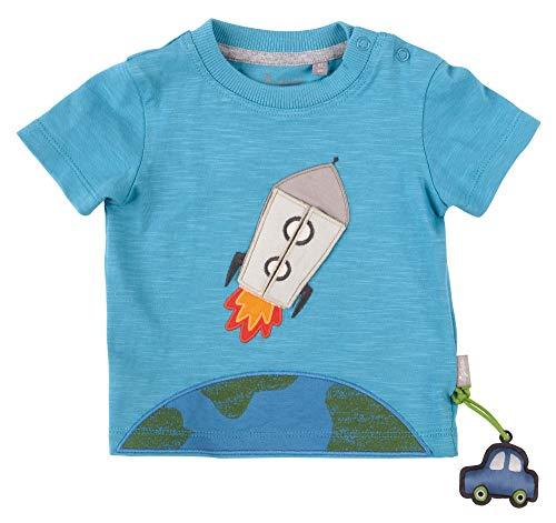 Sigikid Baby-Jungen T-Shirt, Weltraum/Blau, 62