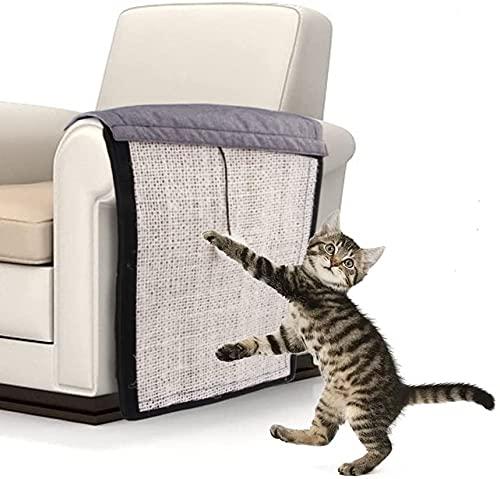 YJZQ - Protector de muebles para rascador con pelota y alfombra de sisal de gato para protector de arañazos de silla, mueble sofá