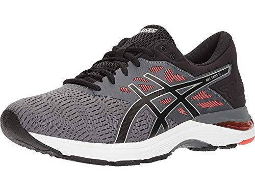 ASICS Men's Gel-Flux 5, Carbon/Black/Tomato, 12 D(M) US