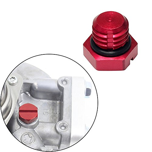 EARLY BUS Aluminum Air Bleeder Screw for GM 2001-2017 Fuel Filter Housing Compatible Replacement (6.0/6.6L) Duramax Diesel LB7, LLY, LBZ, LMM, LML (red)