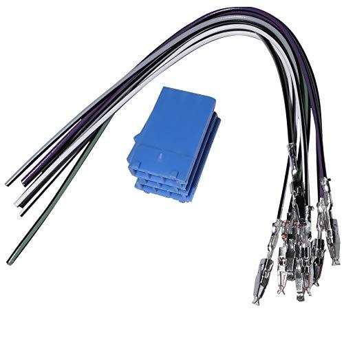 AERZETIX: Connecteur fiche Bleue précâblée Mini ISO 8PIN pour autoradio