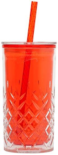 Aladdin 850016 Gobelet avec Paille Plastique Rouge 0,47 L