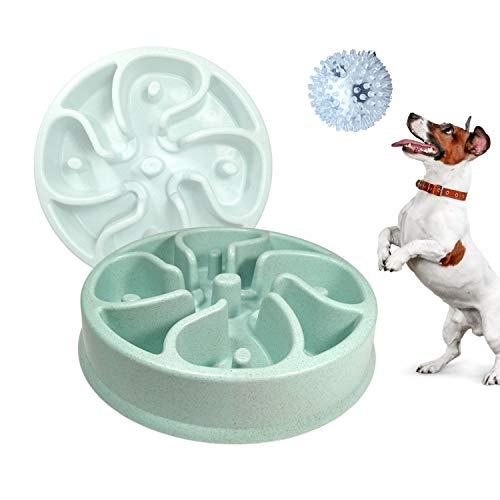 Pack»1 Comedero Antivoracidad Lento Para Perros Ansiosos, Plato divertido e interactivo para...