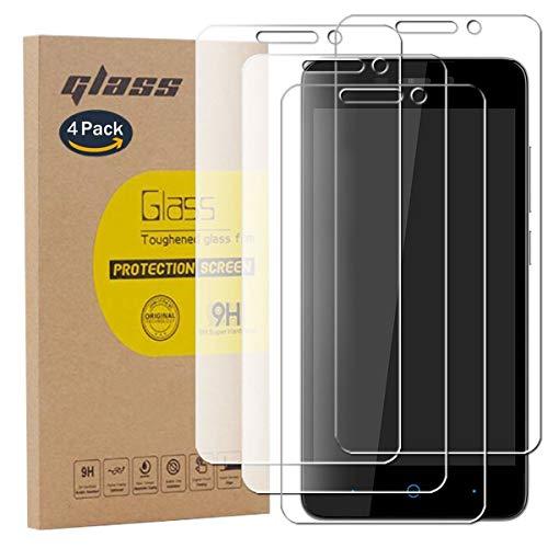 pinlu [4 Stück] Panzerglas Bildschirmschutzfolie für ZTE Blade A452 Transparent Glasfolie Protector 9H Festigkeitgrad Schutzglas,99prozent Transparenz,Einfaches Anbringen