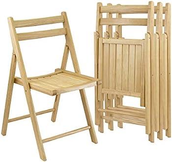 4-Piece Winsome Robin Folding Chair Set