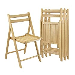 Winsome Wood Natural Finish - Best Wooden Folding Chair