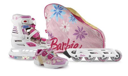 Powerslide Barbie X-Blade Set, Größe 31/32, weiß/pink