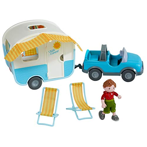 HABA Little Friends Vacation Camper Play Set