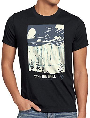 style3 El Muro Camiseta para Hombre T-Shirt Nieve Guardia de la Noche John invernalia Snow, Talla:M