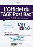 L'officiel du TAGE Post Bac - Le manuel officiel de préparation au test - L'Etudiant - 20/11/2014