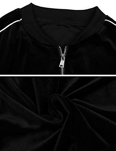 Irevial Women Pjs Pajama Velvet Tracksuit Set Full Zipper 4 Pocket Jogging Suit Sportwear Loungewear 2 Piece Sweatsuit Top & Bottom