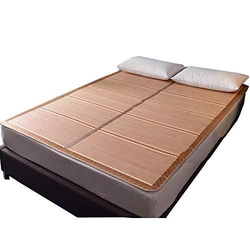JFFFFWI Sommer Schlafkühlung Matratze Top Mat Sommer Schlafmatte Cool Komfortable Falten Doppelbett Auskleidungen Chinesischen Stil Schlafzimmer - 2 Kissenbezüge (Größe: 200X215 cm)