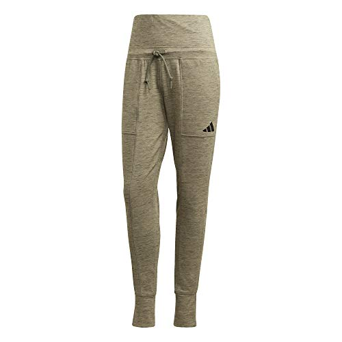 adidas Performance High Waisted Slim joggingbroek dames groen, L