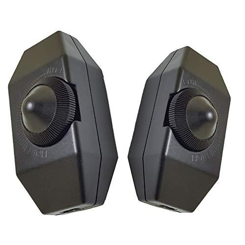 Dimmerschaltergehäuse CHEPL LED Dimmer (Hinterkanten Dimmer Drehdimmer Enthält keinen Switch-Core) Dimmschalter Stufenlos Dimmen Schwarz