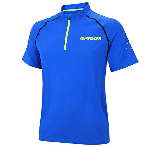 Airtracks FUNKTIONS Laufshirt Kurzarm PRO Team/Running T-Shirt/Funktionsshirt/ATUMUNGSAKTIV - blau - XL